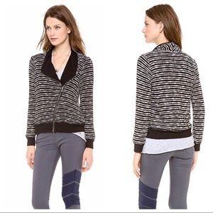 Splendid | striped Fireside Moto Sweater Jacket